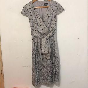 Dotted Grey Adrianna Papell Dress